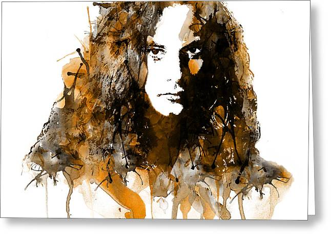 Marian Greeting Cards - Mike Starr from Alice in Chains watercolor Greeting Card by Marian Voicu