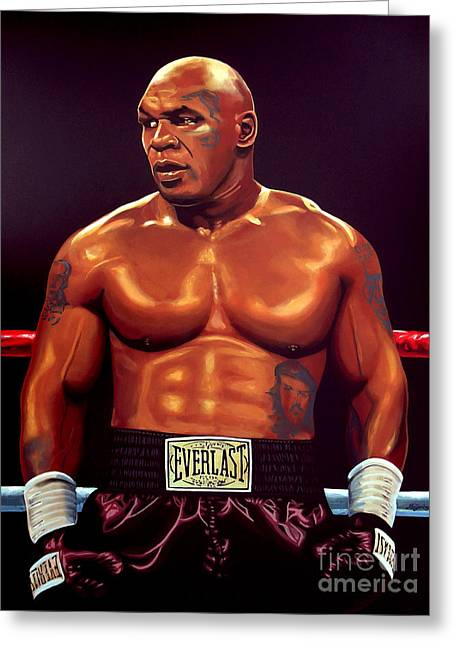 Planet Paintings Greeting Cards - Mike Tyson Greeting Card by Paul  Meijering