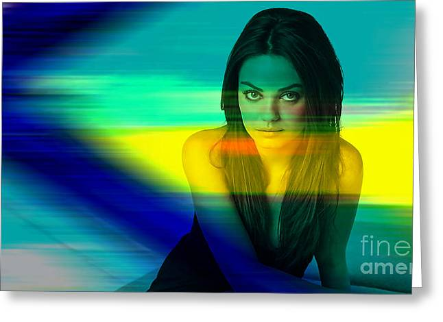 Mila Kunis Greeting Cards - Mila Kunis Greeting Card by Marvin Blaine