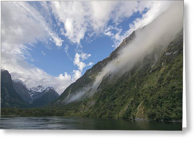 Aotearoa Greeting Cards - Milford Sound Greeting Card by Rob Hill