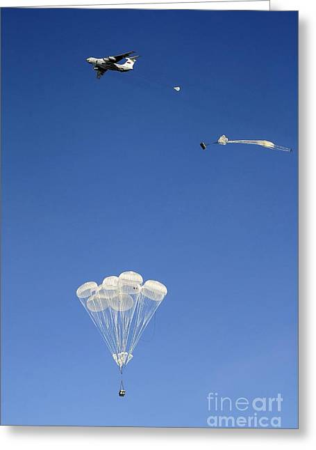 Division Greeting Cards - Military Airborne Division Training Greeting Card by RIA Novosti