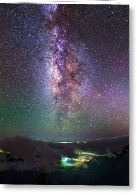 Milky Way Over La Palma Greeting Card by Babak Tafreshi