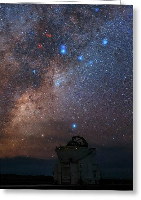 Milky Way Over Paranal Observatory Greeting Card by Babak Tafreshi