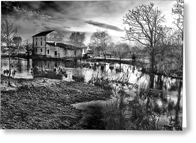 Mills Digital Greeting Cards - Mill by the river Greeting Card by Jaroslaw Grudzinski