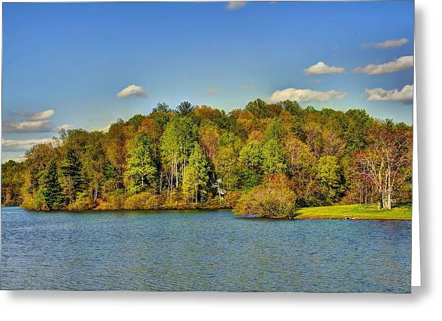 Fishing Creek Greeting Cards - Mill Creek Lake Greeting Card by Todd Hostetter