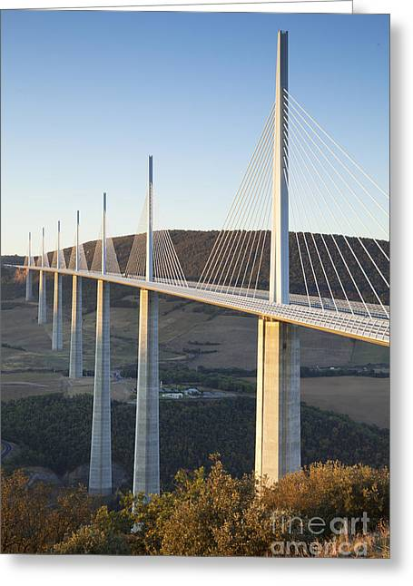 Midi Greeting Cards - Millau Viaduct at Sunrise Midi-Pyrenees France Greeting Card by Colin and Linda McKie