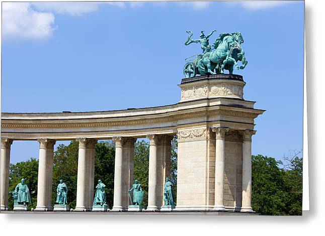 Historic Statue Greeting Cards - Millennium Monument in Budapest Greeting Card by Artur Bogacki
