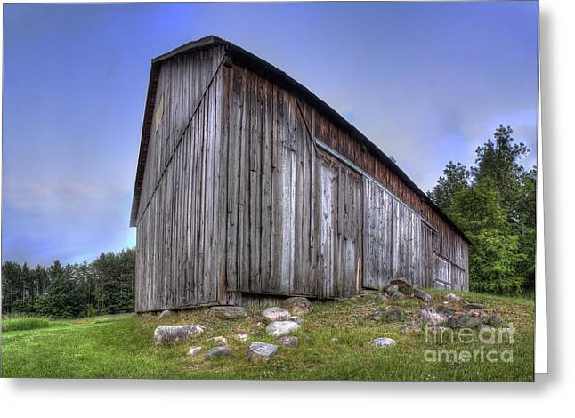 Oneida Greeting Cards - Miller Barn at Port Oneida Greeting Card by Twenty Two North Photography