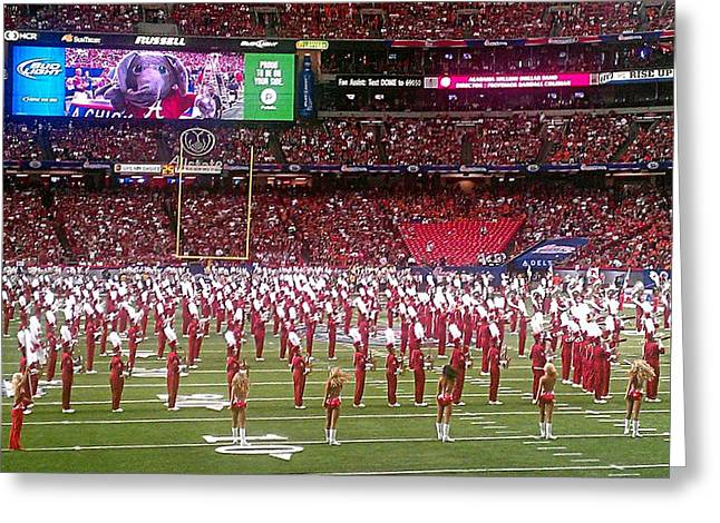 University Of Alabama Greeting Cards - Million Dollar Band Greeting Card by Kenny Glover