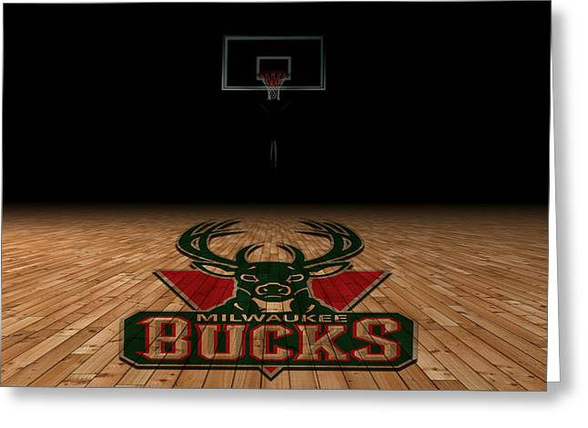 March Greeting Cards - Milwaukee Bucks Greeting Card by Joe Hamilton