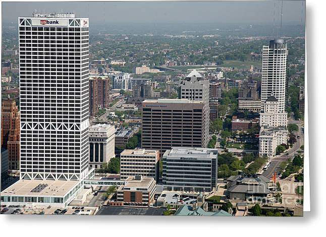 Northwestern Us Greeting Cards - Milwaukee Wisconsin Skyline Greeting Card by Bill Cobb