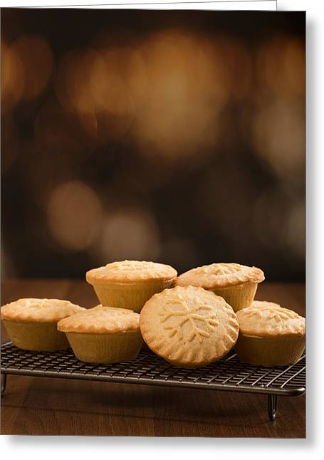 Rack Greeting Cards - Mince Pies Greeting Card by Amanda And Christopher Elwell