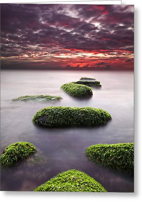Green Clouds Greeting Cards - Mind and spirit Greeting Card by Jorge Maia