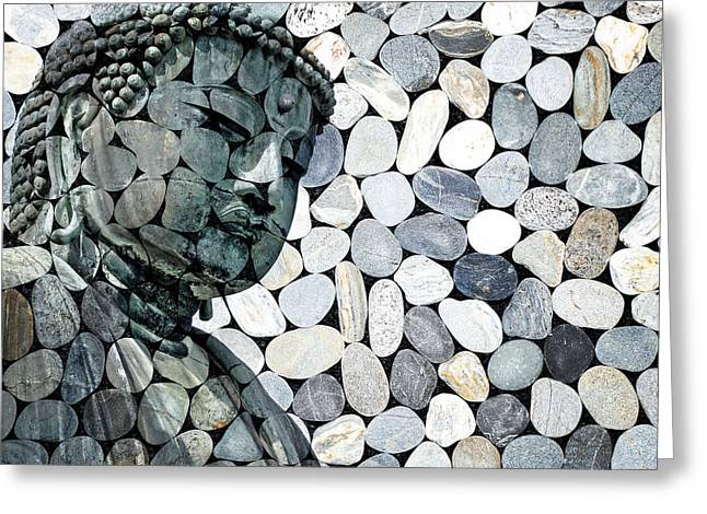 """""""zen Buddhism"""" Greeting Cards - Mineral Daibutsu Greeting Card by Delphimages Photo Creations"""