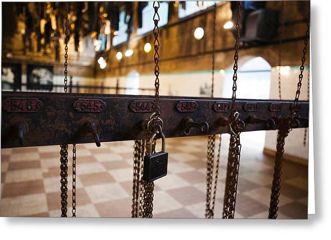 No Clothing Greeting Cards - Miners Clothing Hanging Room, Salle Des Greeting Card by Panoramic Images