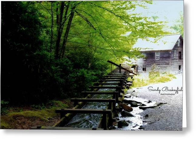Tennessee Landmark Greeting Cards - Mingus Mill  Greeting Card by Sandy Baskeyfield