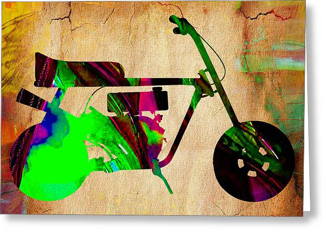 Motorcycle Greeting Cards - Mini Bike Greeting Card by Marvin Blaine