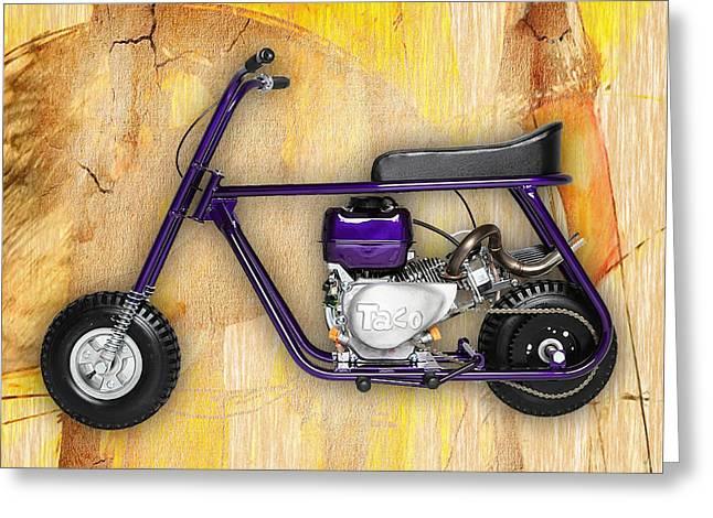 Mini Bike Greeting Cards - Mini Bike Taco 22 Greeting Card by Marvin Blaine