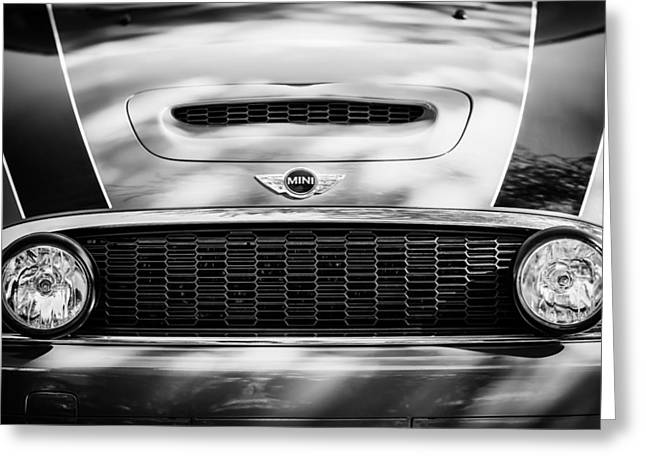 Mini Photographs Greeting Cards - Mini Car Grille Emblem Greeting Card by Jill Reger