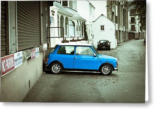 Tarmac Greeting Cards - Mini car Greeting Card by Tom Gowanlock