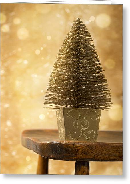 Miniature Effect Greeting Cards - Miniature Christmas Tree Greeting Card by Amanda And Christopher Elwell