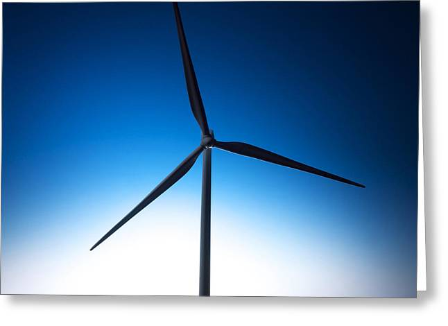 Simplicity Greeting Cards - Miniature wind turbine Greeting Card by Bernard Jaubert