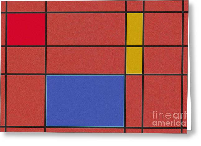 Illustration Greeting Cards - Minimalist Mondrian Greeting Card by Celestial Images