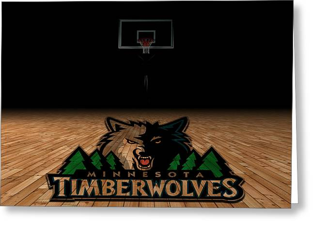 Minnesota Timberwolves Greeting Card by Joe Hamilton