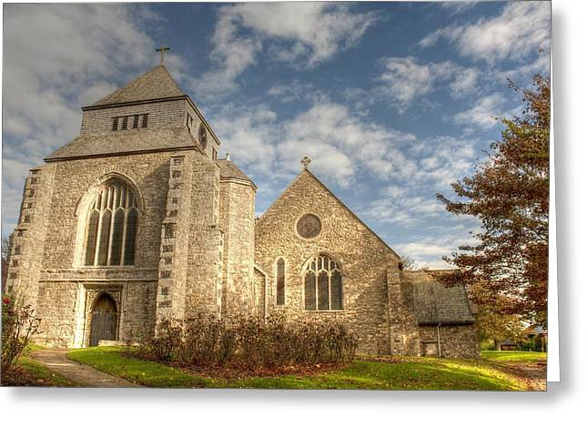 Minster Abbey Greeting Cards - Minster Abbey Greeting Card by Dave Godden