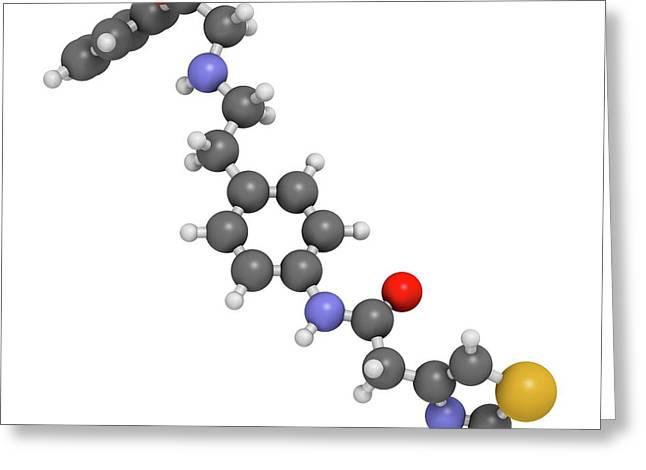 Mirabegron Overactive Bladder Drug Greeting Card by Molekuul