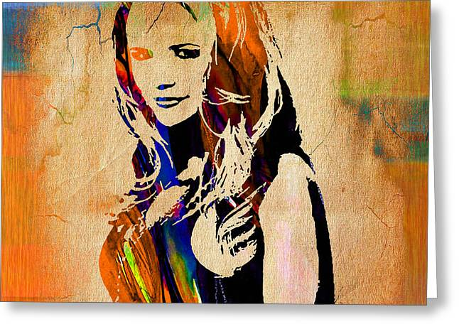 Nashville Tennessee Greeting Cards - Miranda Lambert Collection Greeting Card by Marvin Blaine