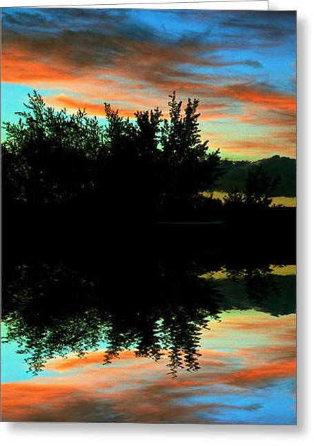 Sunset Posters Greeting Cards - Mirror Mirror Greeting Card by Kevin Bone