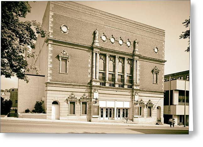 1980s Greeting Cards - Mishler Theatre in Altoona Pennsylvania 1989 Greeting Card by Mountain Dreams