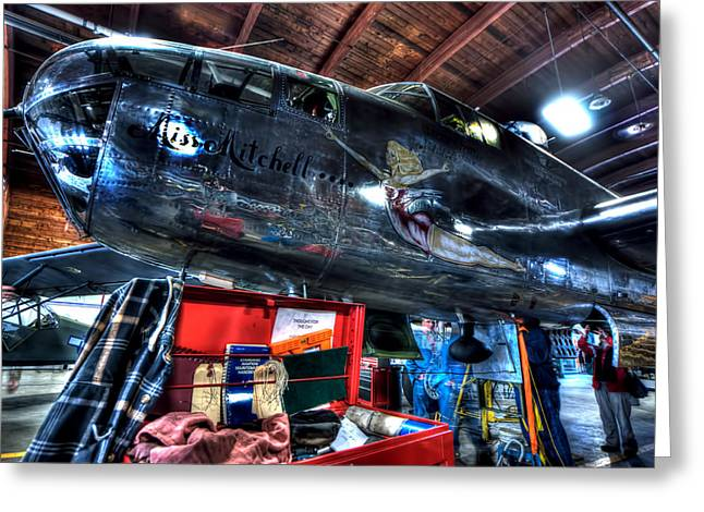 North American B-25j Mitchell Photographs Greeting Cards - Miss Mitchell Greeting Card by Amanda Stadther