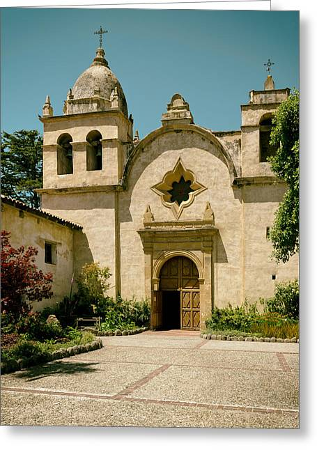 Carmel Greeting Cards - Mission San Carlos - Carmel California Greeting Card by Mountain Dreams
