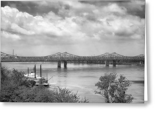 Steamboat Greeting Cards - Mississippi River at Natchez Greeting Card by Mountain Dreams
