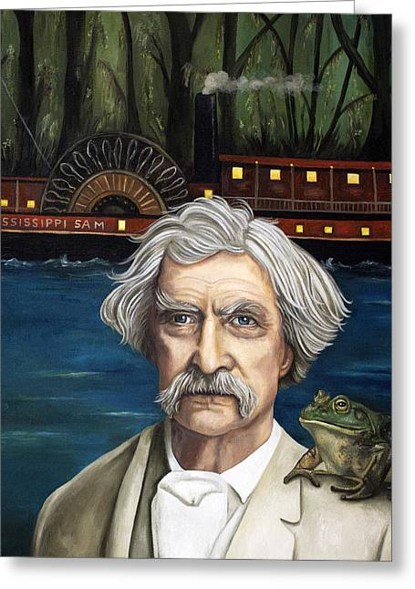 Mississippi Sam Greeting Card by Leah Saulnier The Painting Maniac