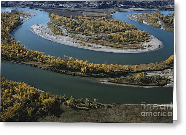 Merging Greeting Cards - Missouri And Yellowstone Rivers Greeting Card by Farrell Grehan
