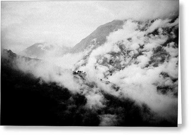 Artmif Greeting Cards - Mist in mountain Himalayas Greeting Card by Raimond Klavins