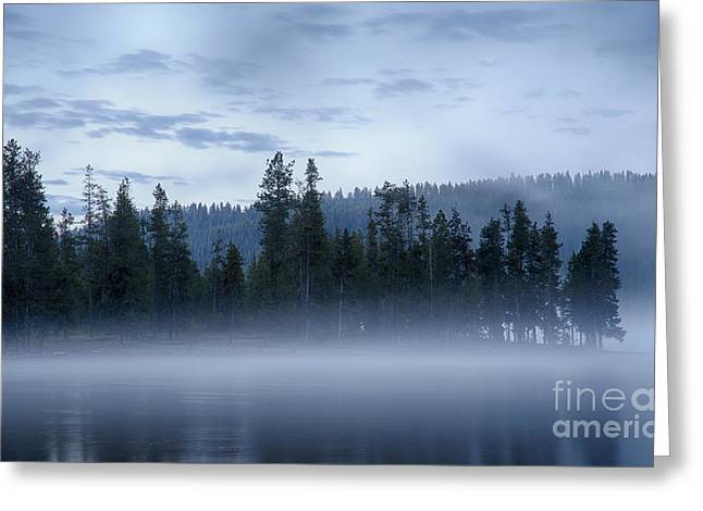 Misty Blue Persuasion Greeting Card by Idaho Scenic Images Linda Lantzy