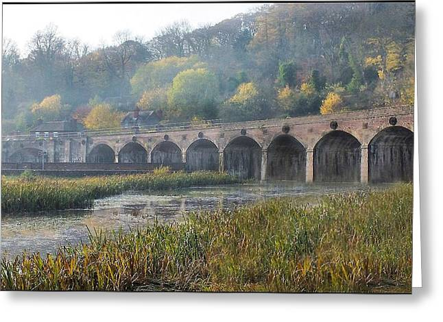Coalbrookdale Greeting Cards - Misty morning in Coalbrookdale Shropshire Greeting Card by Liz  Callan