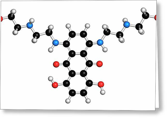 Mitoxantrone Cancer Drug Molecule Greeting Card by Molekuul