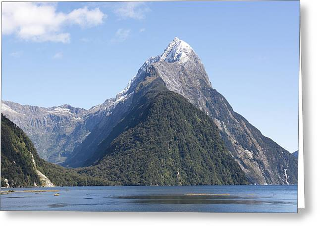 Aotearoa Greeting Cards - Mitre Peak in Milford Sound Greeting Card by Rob Hill