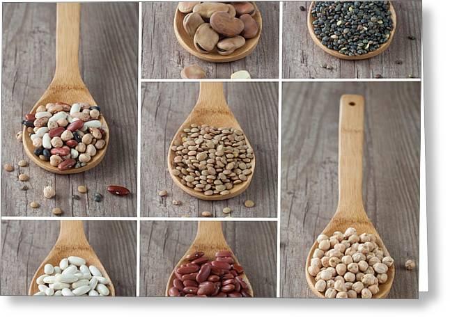 Mixed Legumes Collage Greeting Card by Sabino Parente