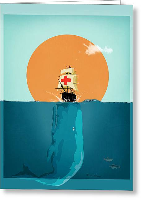 Moby Dick Greeting Cards - Moby  Greeting Card by Mark Ashkenazi
