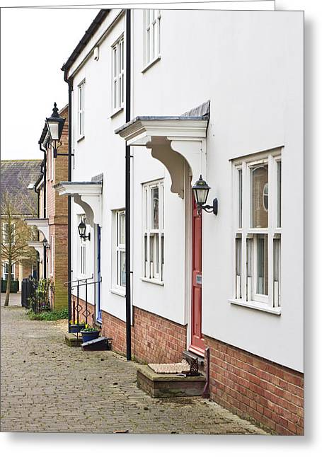 Front St Greeting Cards - Modern homes Greeting Card by Tom Gowanlock