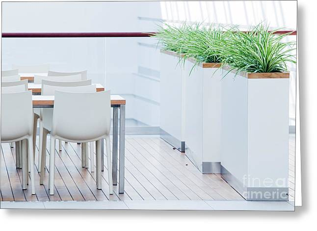 Home Office Furniture Greeting Cards - Modern restaurant interior Greeting Card by Michal Bednarek