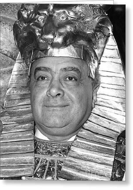 Knightsbridge Greeting Cards - Mohamed Al Fayed Greeting Card by David Fowler