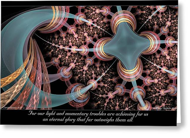 Momentary Troubles Greeting Card by Missy Gainer