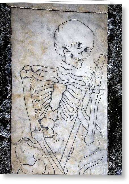 Momento Mori Greeting Card by Sheila Terry